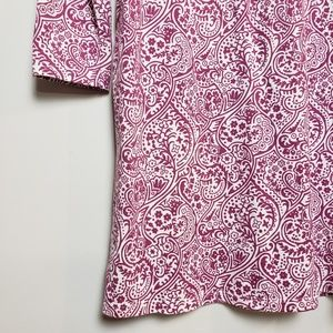 Boden Dresses - Boden Paisley Cleo Long Sleeve Jersey Tunic
